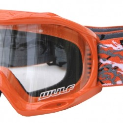 WULFSPORT JUNIOR MASCHERINA ABSTRACT ARANCIONE