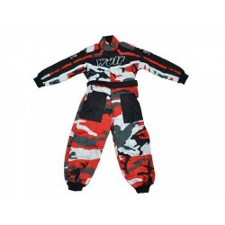 WULFSPORT JUNIOR TUTA RACING ROSSO MIMETICO