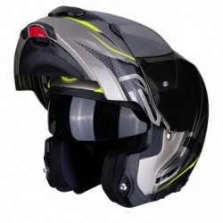 SCORPION EXO-3000 AIR CREED TITANIUM-BLACK-NEON YELLOW