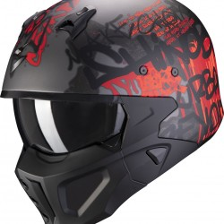 SCORPION COVERT-X WALL SILVER SCURO OPACO-ROSSO