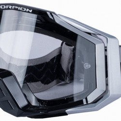 SCORPION MASCHERA OFF-ROAD SILVER-NERO